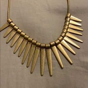 Gold Aztec Style Statement Necklace